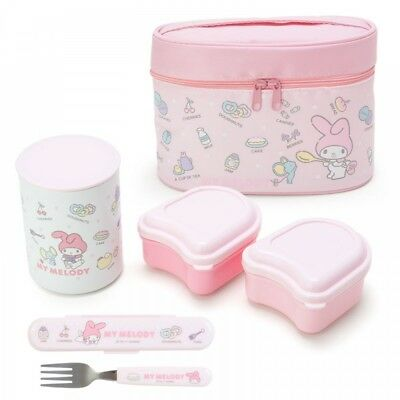 SANRIO Kuromi My Melody Lunch Box Food Container Case 3pcs Set BENTO From Japan