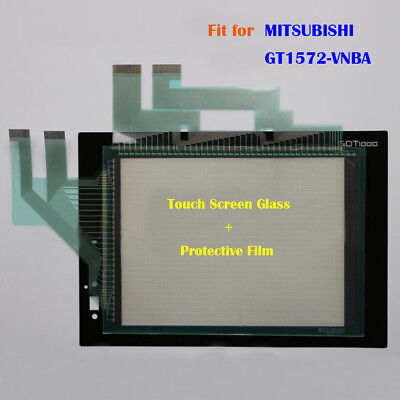 for MITSUBISHI GT1572-VNBA, GT1572VNBA Touch Screen Glass + Protective Film New