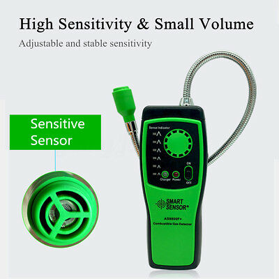 SMART SENSOR Gas Leak Analyzer Combustible Detector Tester Light Sound Alarm AU