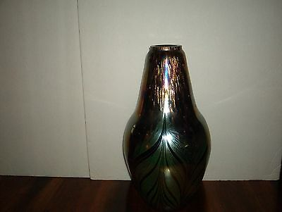 Large Alexander Kalifano *tall 14 Inches** ***iridescent Art Deco Vase***