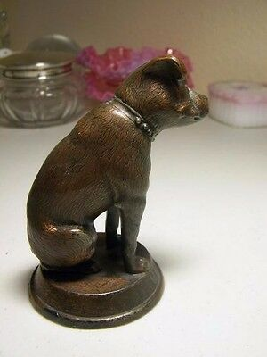 """RCA DOG Spelter Metal Figurine 4 1/4"""" High """"Standard"""" Pittsburgh, Pa. 1940s"""