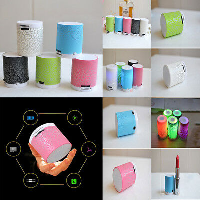 LED Colorful Portable Mini Wireless Speakers Hands Free Speaker With TF