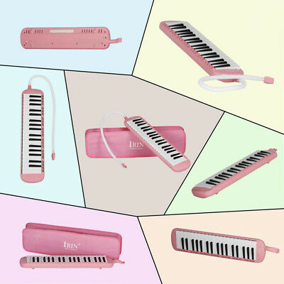 37 Keys Melodica Pianica Keyboard+Mouthpiece/Carrying Bag For Students Pink