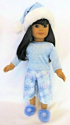 Retired 2006-2009 American Girl PJ LOT: SNUGGLY SNOW F8766 & LET IT SNOW GVOY
