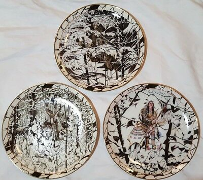 Lot of 3 Bradford Exchange Limited Edition Decorative Plates Silent Journey