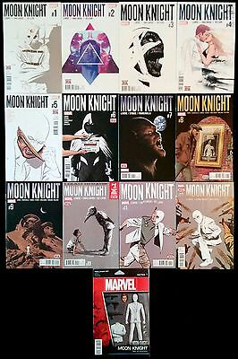 Moon Knight #1 - 12 and #1 Action Figure Variant.  Lemire Bellaire Francavilla.
