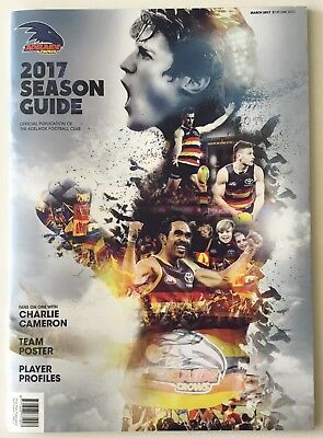 Adelaide Crows Magazine AFL Club 2017 Season Guide With Team Poster New
