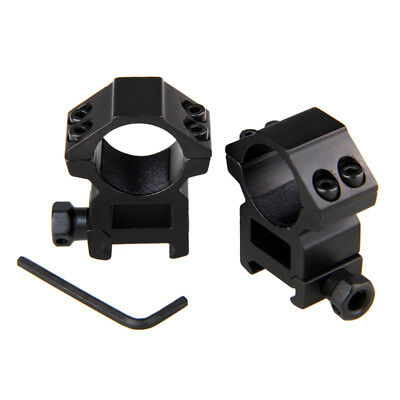 "2PC 25.4mm High Profile Weaver Rail Mount/1"" Ring 20mm Picatinny For Rifle Scope"