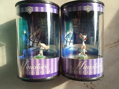 PINKY and The BRAIN Miniatures 1999 in Display Tubes Warner Bro Store EXCLUSIVE