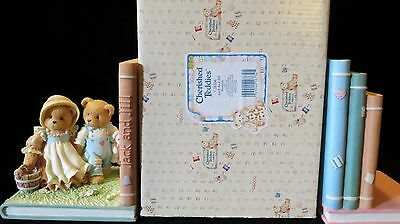 Cherished Teddies Jack and Jill Bookends with Box