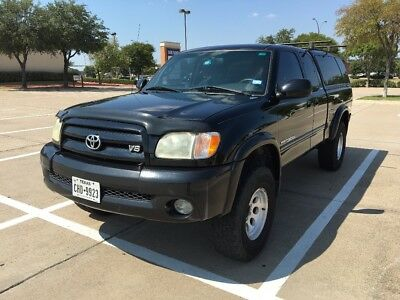 2003 Toyota Tundra Limited 2003 Toyota Tundra Access Cab Black lifted 4X4 Limited w/ Leer 100XL Topper
