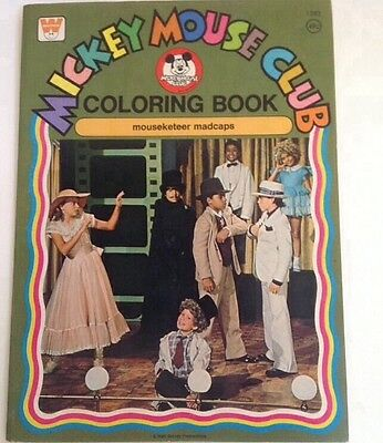 Vintage Disney Mickey Mouse Club Coloring Book Mouseketeer Mad caps Unused