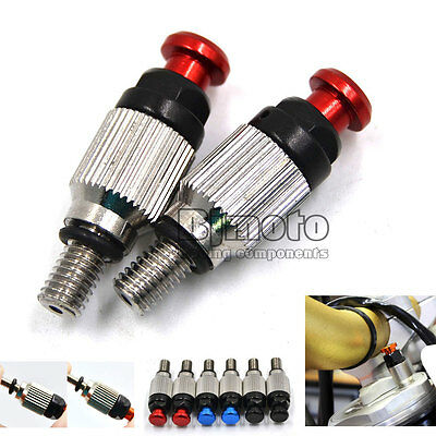 M5*0.8mm Front Fork Air Bleeder Valves For Honda Yamaha Motocross Dirt Bike Red