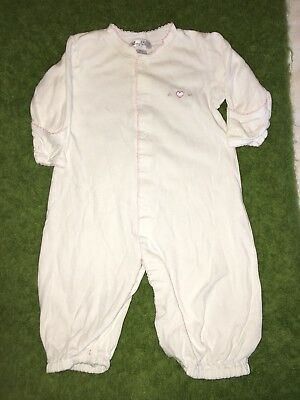 Baby Girl's Kissy Kissy White Outfit SM 0-6 mo