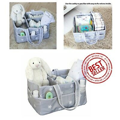 Large Diaper Caddy Organizer Baby Nursery Wipes Storage Basket Bin Organizer NEW
