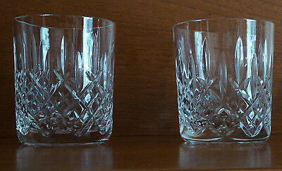 Boxed Set TWO Royal Scot  Cut Lead Crystal 250 ml Tumblers Glasses Sandringham