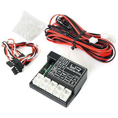 2 Channel Programmable LED Lighting System For 1:10 RC Car Truck. suit Axial etc