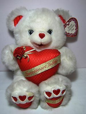 "Dan Dee Valentines 18"" Sweetheart Teddy Bear 1995 Plush NWT"
