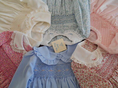 Dress - Baby - Girls-Toddler - Hand Smocked-Vintage -Made In Aust.- Size 0000-3
