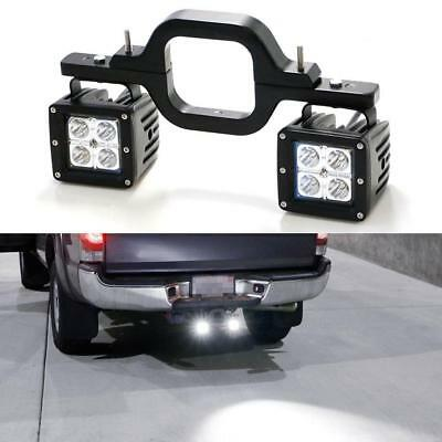 2PCS 18W LED Backup Reverse Light and Tow Hitch Brackets For 4x4 Truck SUV