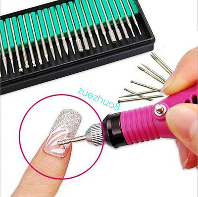 30x Electric Nail Art File Drill Bits Manicure Pedicure Replacement Kit Set Tool