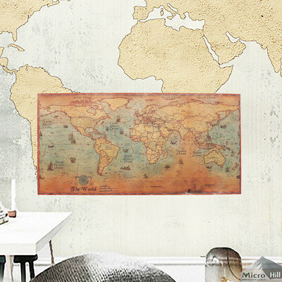 NEW MAP Of The World Vintage Style World Map Poster - World map poster vintage style