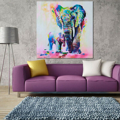 50 x 50cm Hand-painted Art Oil Painting Abstract Wall Decor Elephant on Canvas