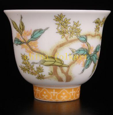 Porcelain Bowl Painting Flowers Noble Gift Crafts Collectable