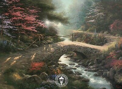 Bridge of Faith -- Painter of Light Art Card --- Thomas Kinkade Dealer Postcard