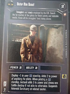 Star Wars CCG SWCCG Outer Rim Scout Special Edition Rare Card Collection