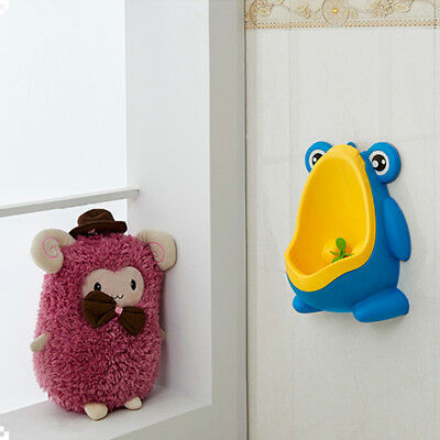 Cartoon Frog/Penguin Baby Boys Wall-Mounted Pee Potty Urinal Standing Toilet
