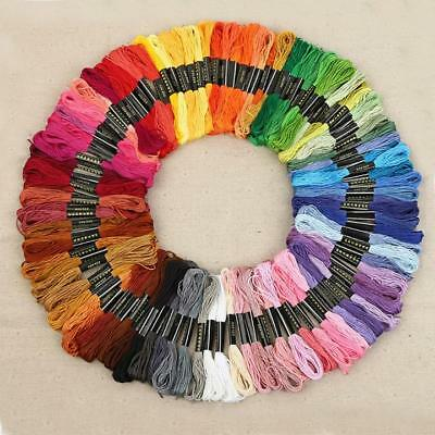 Premium Rainbow Color Embroidery Floss Cross Stitch Threads Friendship Crafts