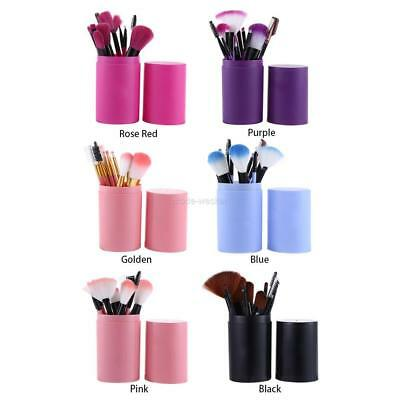 12pcs Pro Makeup Cosmetic Eyeshadow Brushes Set Powder Foundation Lip Brush Tool
