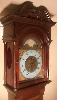 "Antique Mahogany "" Rye ""  Brass  Moon Phase  Grandfather / Longcase Clock"