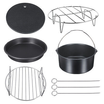 Replacement Air Fryer Frying Cage Dish Baking Pan Rack Tray Assorted Accessories