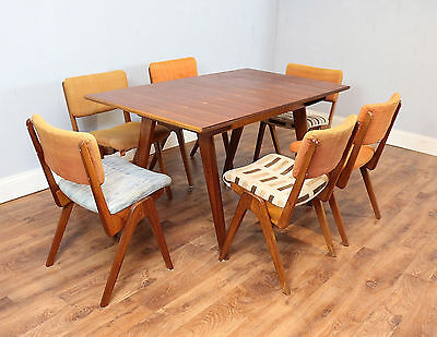 Retro Table & 6 Dining Chairs, Robin Day, Refurb, Teak, Vintage 60`s