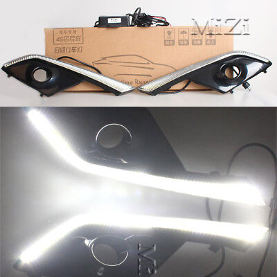 LED Daytime Running Lights DRL LED Fog Lamp for Mazda CX-3 2016~2017