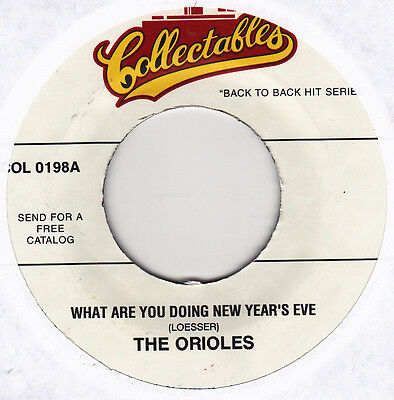 "The Orioles - What Are You Doing New Year's Eve / Lonely Xmas - 7"" US Vinyl 45"
