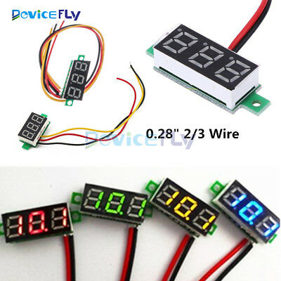 "0.28"" 2/3 Wire LED Display Digital Voltmeter Gauge Voltage Detector Panel Meter"