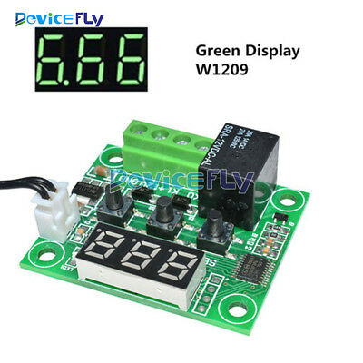 Green DC12V -50-110°C W1209 Digital Thermostat Temperature Control Switch Sensor