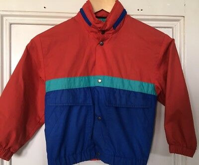 St Michael M&s Boys Vintage 1980's Bomber Jacket Age 5-6 Red