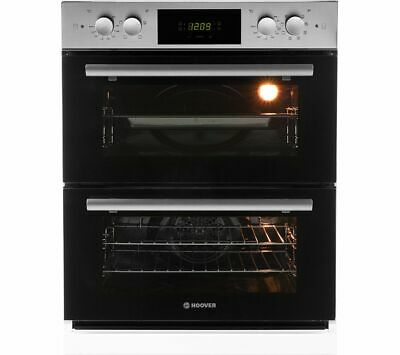 HOOVER HDO8442X Electric Built-under Double Oven - Stainless Steel - Currys