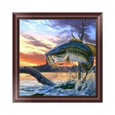 DIY 5D Diamond Rhinestone Embroidery Fish Painting Cross Stitch Home Decoration
