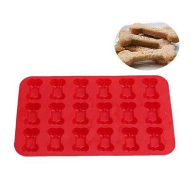 Dog Bone Silicone Baking Pan Mold Ice Tray Puppy Treat Cookie Non Stick Mould B