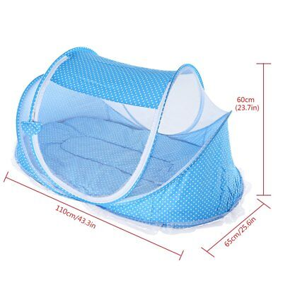 Portable Baby Infant Folding Travel Bed Crib Canopy Mosquito Net Tent Foldable