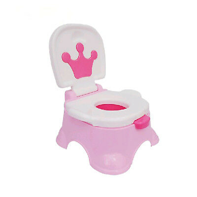 3 in 1 Baby Toddler Toilet Trainer Safety Green Music Potty Training Seat Pink