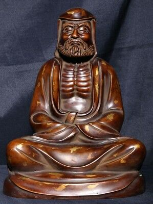 Marvelous Exquisite Chinese Antique Bronze Buddha Seated Statue Sculpture AB113