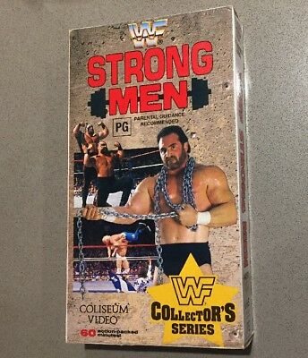 WWF Strong Men Coliseum Collectors Series VHS Video Tape WWE Rare