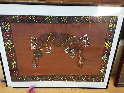 ABORIGINAL DOT PAINTING Platypus framed  Ready to hang 510 x 410