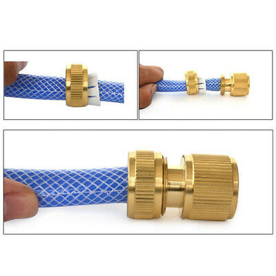 "1PC 1/2"" Brass Hose Pipe Fitting Set/Car Washing Water /Gun Quick Connector 8499"
